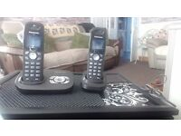 PANASONIC DIGITAL CORDLESS ANSWERING SYSTEM TWIN PHONES