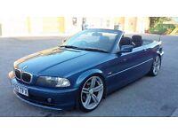 BMW 320CI CONVERTIBLE,MANUAL,130K,SPARES OR REPAIR,GOOD RUNNER