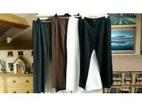Four pairs womens trousers size 14