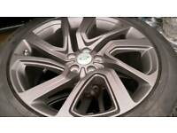 Genuine land rover discovery 5 , 21 inch alloy wheels tyres stelth new pirelli scorpion 275/45/21