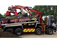 8 & 6 WHEEL GRAB LORRY HIRE MUCK AWAY GREEN WASTE QUALITY CRUSHED CONCRETE DELIVERED CAMBS AREA