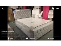 King size Florida bed frame includes mattress new