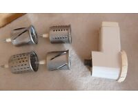 Kenwood mixer accessory selection - grater, whisk, bowl etc