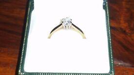 9 carat gold diamond solitaire ring