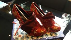 Irregular Choice - Red sequin shoes