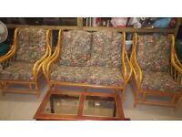 Cane Conservatory Sofa Set