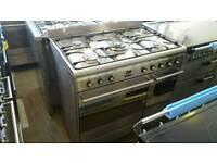 Smeg 90cm range cooker dual fuel
