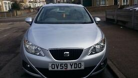 Reduced! Seat Ibiza Silver 59 plate 1.4 A/C FSH! 5 door