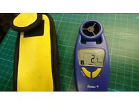 Diplex Anemometer & Thermometer with Belt Clip Case
