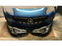 Vauxhall Corsa e 2015 2016 2017 2018 front bumper and headlights