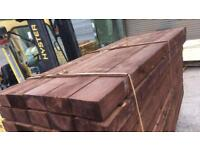 Railway sleepers brown