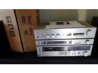 1980s Retro Technics SU-Z25 Amplifier & ST-Z25L Tuner & RS-M216 Cassette Deck