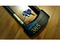 Oxford 385 Shackle Lock - Thatcham/Sold Secure Gold