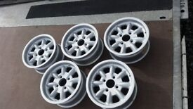 Rally Retro 1970s Magnesium Alloy Minilights wheels 4x108