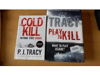 2 crime books by P J Tracy, great reading for sale  Surrey