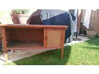 Fox proof outdoor rabbit guinea-pig hutch cage