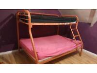 Triple Bunk bed with mattresses (delivery available)
