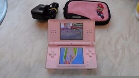 Nintendo DS Lite (Pink) with 12 Boxed games, carry case and charger, bargain only £95