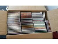 Box of about 66 celtic music CDs