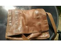 True leather bag