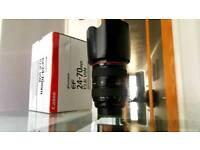 Canon EF 24-70mm F/2.8 L USM Lens with hood