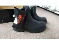 Steel toe cap boots, Unisex, UK size 4