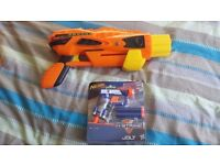 nerf pistol and 'cannon'.....