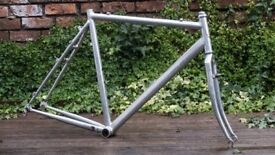 ALAN cyclocross frameset — alloy, cantilever, shred sled. 58-ish-CM