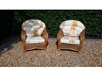 Bamboo garden or conservatory chairs