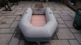 INFLATABLE DINGHY 270 2.7 METERS SOLID OUTBOARD TRANSOM DINGHY DINGY TENDER RIB SIB SAILING BOAT