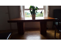 Large Acacia wood dining table.
