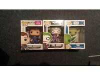 Pop Vinyl Figures - Yoda, The Joker and The Lone Wanderer (All unopened and boxed).