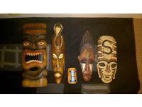 African Hanging Masks/Decorations