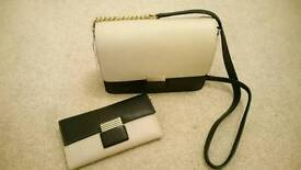 Reduced! RI2K Maya Birch black and white leather purse and bag