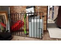 Wrought iron garden driveway patio gate