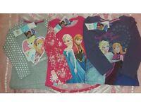 3 x Girls Disney Frozen Tops