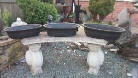 Tongrae heavy duty bonsai pots (black oval/circular pots)