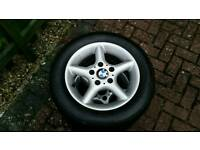 5 x BMW alloy wheels and tyres