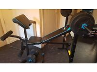 Quick sale rrp £130 buy now £80 Weights bench and weights