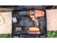 Black Decker 18v Li Ion Cordless Combi Hammer Drill! Perfect Working Order!