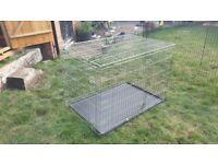 Large Dog cage ( Zinc plated in silver. )