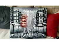 Paris artwork - painting on canvas