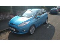 Blue Ford Fiesta Titanium 1.4 diesel for sale; low mileage, cheap road tax