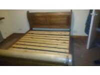 Kingsize Wooden Bedframe with Drawers