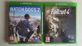 2 game pack, watchdogs 2, fallout 4, xbox one