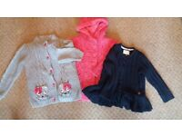 3 Girls cardigans age 2-3 years