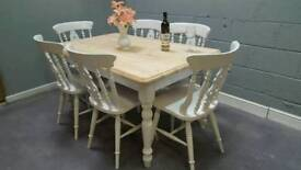 Absolutely Stunning 5ft Bespoke Table and chair set