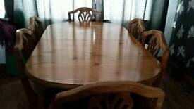 Ducal extending dining table an 6chairs