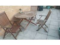 Set of table and chairs