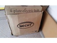 4 plate electric hob and oven - NECHT Brand new unopened